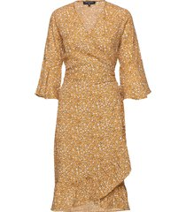 dress knälång klänning gul ilse jacobsen