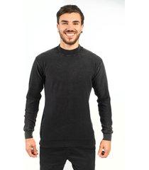 blusa algodão fino tricoport básica grafite