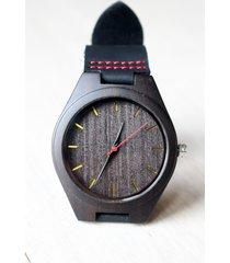 drewniany zegarek ebony black