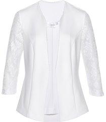 blazer in jersey con pizzo (bianco) - bpc selection premium