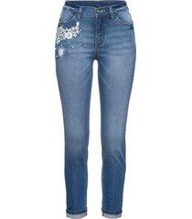 7/8-jeans med dekorativa detaljer