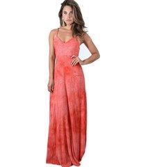 vestido largo berlin coral lente ly maria paskaro