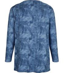 topp med batikinspirerat mönster miamoda blå
