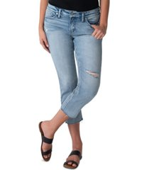 silver jeans co. distressed elyse cropped jeans