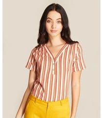 blusa de rayas