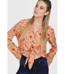 camisa beige nano carola 1120