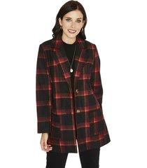 abrigo manga larga estampado rojo curvi