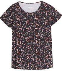 camiseta m/c con estampado mini flores