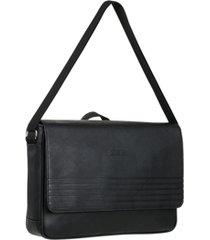 "vegan leather 14.1"" laptop messenger bag"