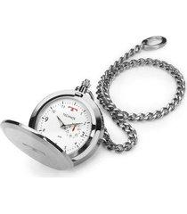 relógio de bolso technos masculino heritage