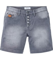 shorts lunghi elasticizzati regular fit (grigio) - john baner jeanswear