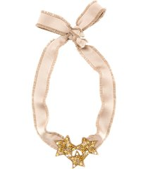 red valentino red(v) party ballet necklace - neutrals