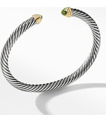 david yurman cable classics bracelet with semiprecious stones & 14k gold, 5mm, size small in bo 14kyss at nordstrom