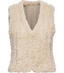 sc-nabi vests padded vests beige soyaconcept