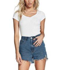 cotton on high rise harley denim shorts