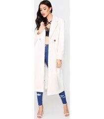 faux fur oversized long coat, cream