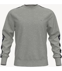 tommy hilfiger men's logo tape sweatshirt grey - xxl