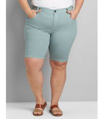 lane bryant women's straight fit slim bermuda short 18 jadeite