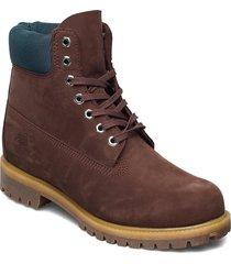 6 inch premium boot snörade stövlar brun timberland