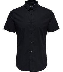 overhemd met korte mouwen effen