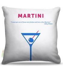 almofada nerderia bebidas vetor martini 45x45cm
