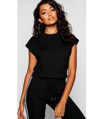 basic cap sleeve t-shirt, black