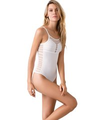 body en blonda y lycra ref 1631o92l off white options intimate