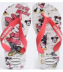 chinelo havaianas infantil estampa minnie top disney