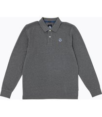polo in cotone con patch