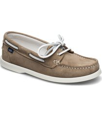 fancy 2-eye sde wmn loafers låga skor beige marstrand