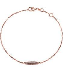 14k rose gold & diamond chain bracelet