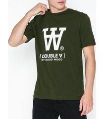 wood wood ace t-shirt t-shirts & linnen army green