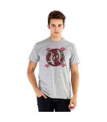 camiseta ouroboros manga curta peixes masculina