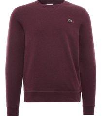 lacoste organic cotton crew neck sweatshirt | bordeaux | sh1505-h9y
