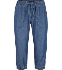 jeans capri in lino e tencel™ (blu) - john baner jeanswear