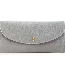 sue basic rectangle snap wallet - light gray