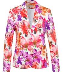 blazer bloemenprint van uta raasch multicolour