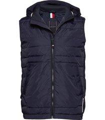 stretch quilted vest vest blauw tommy hilfiger