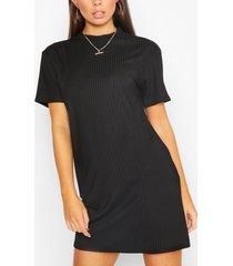 longline rib t-shirt, black