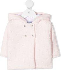 tartine et chocolat chunky knit jacket - pink