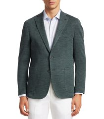 saks fifth avenue men's collection tailored wool blazer - green - size 48 r