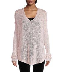 helmut lang women's silk knit top - black - size xs