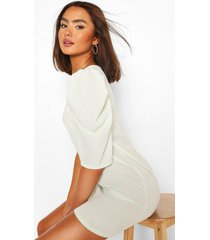 puff sleeve shift dress, mint