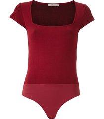 martha medeiros vita mandacaru knit bodysuit - red