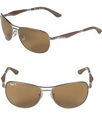 59mm classic polarized aviator sunglasses