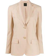 agnona flap-pocket fitted jacket - neutrals