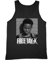 free tay-k shirt support for rapper unisex black tank top