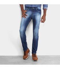 calça jeans skinny opera rock estonada puídos masculina
