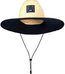 chapéu de palha clothis com forro unissex