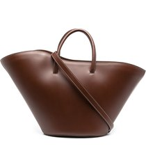 little liffner open tulip medium tote - brown